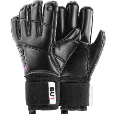 BU1 All Black Roll Finger goalkeeper gloves