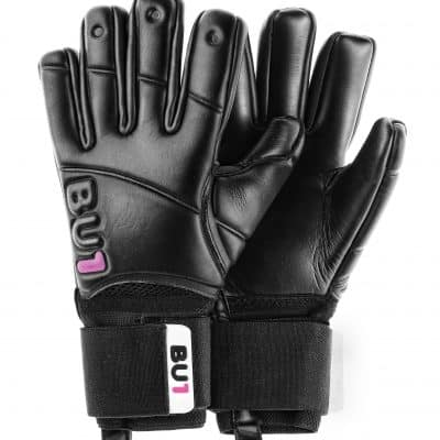 BU1 All Black Negative Cut goalkeeper gloves
