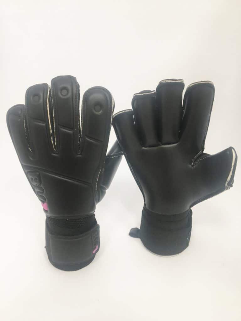 Football Goalkeeper Gloves BU1 All Black Roll Finger