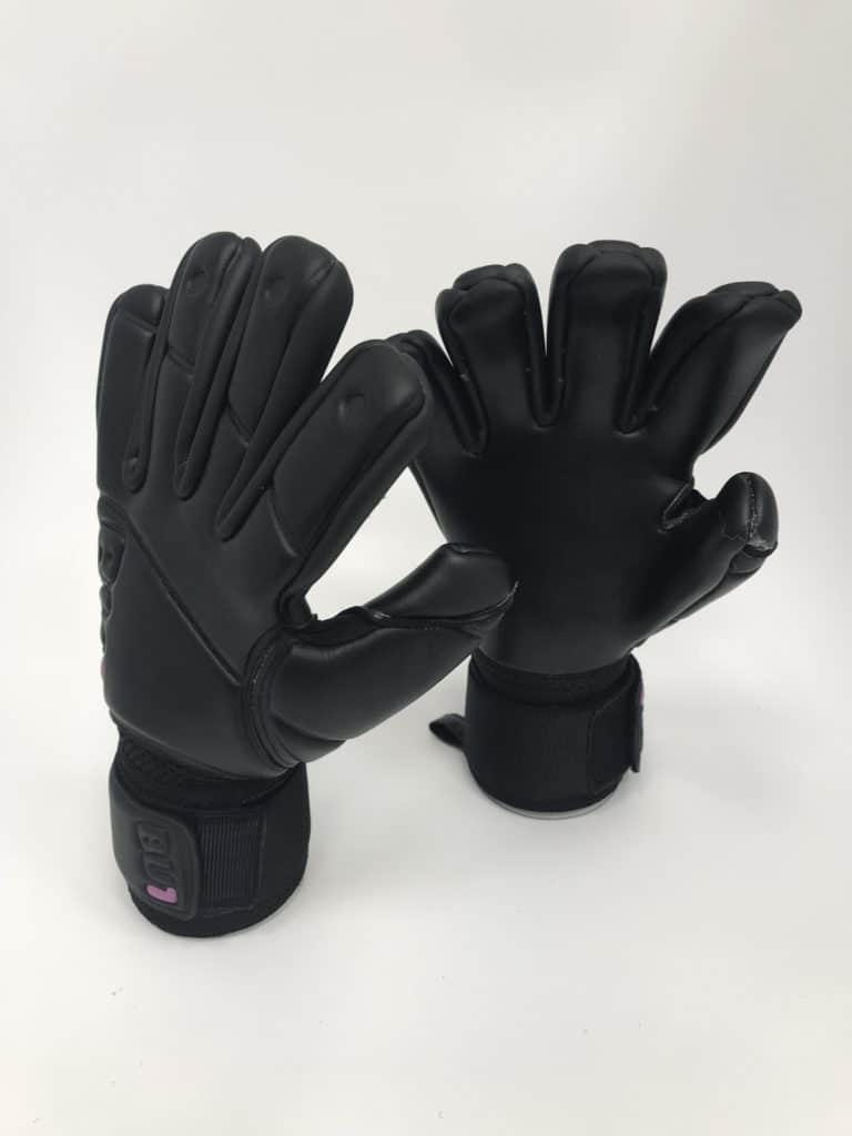 Football Goalkeeper Gloves BU1 All Black Negative Cut