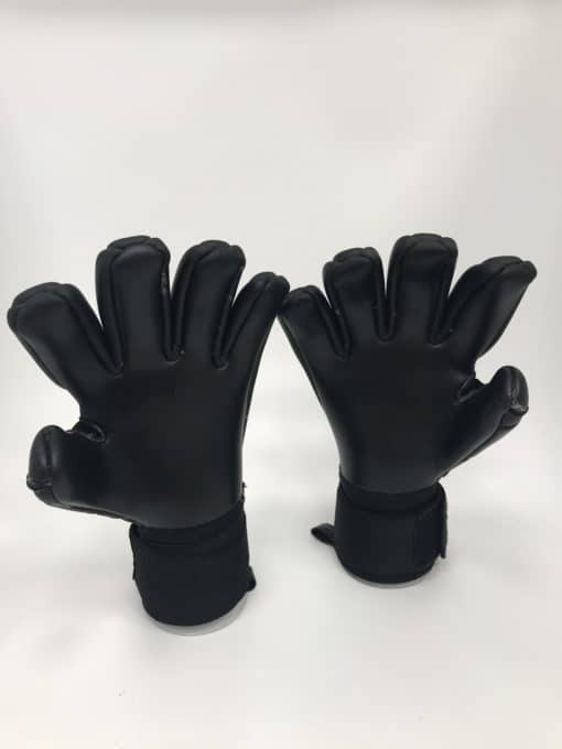Football Goalkeeper Gloves BU1 All Black Negative Cut