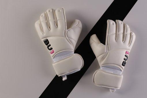 BU1 Classic white goalkeeper gloves Roll Finger