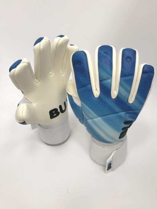 Soccer football goalkeeper gloves BU1 Blue Negative Cut