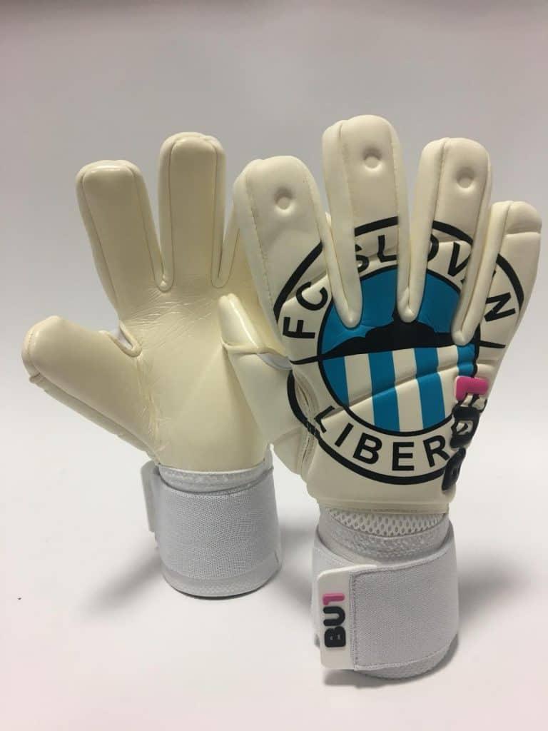 FC Slovan Liberec custom BU1 gloves pair